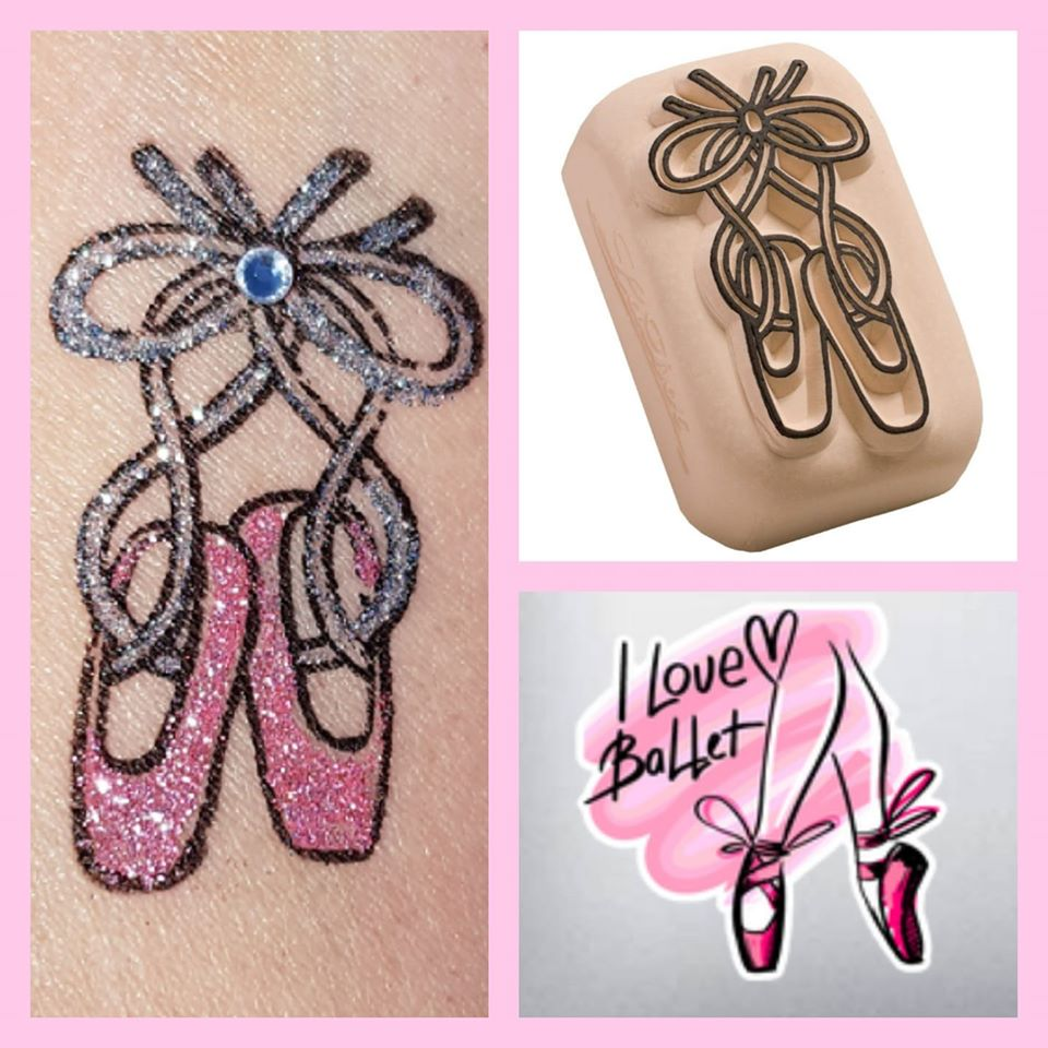 temporary tattoo dancing shoes